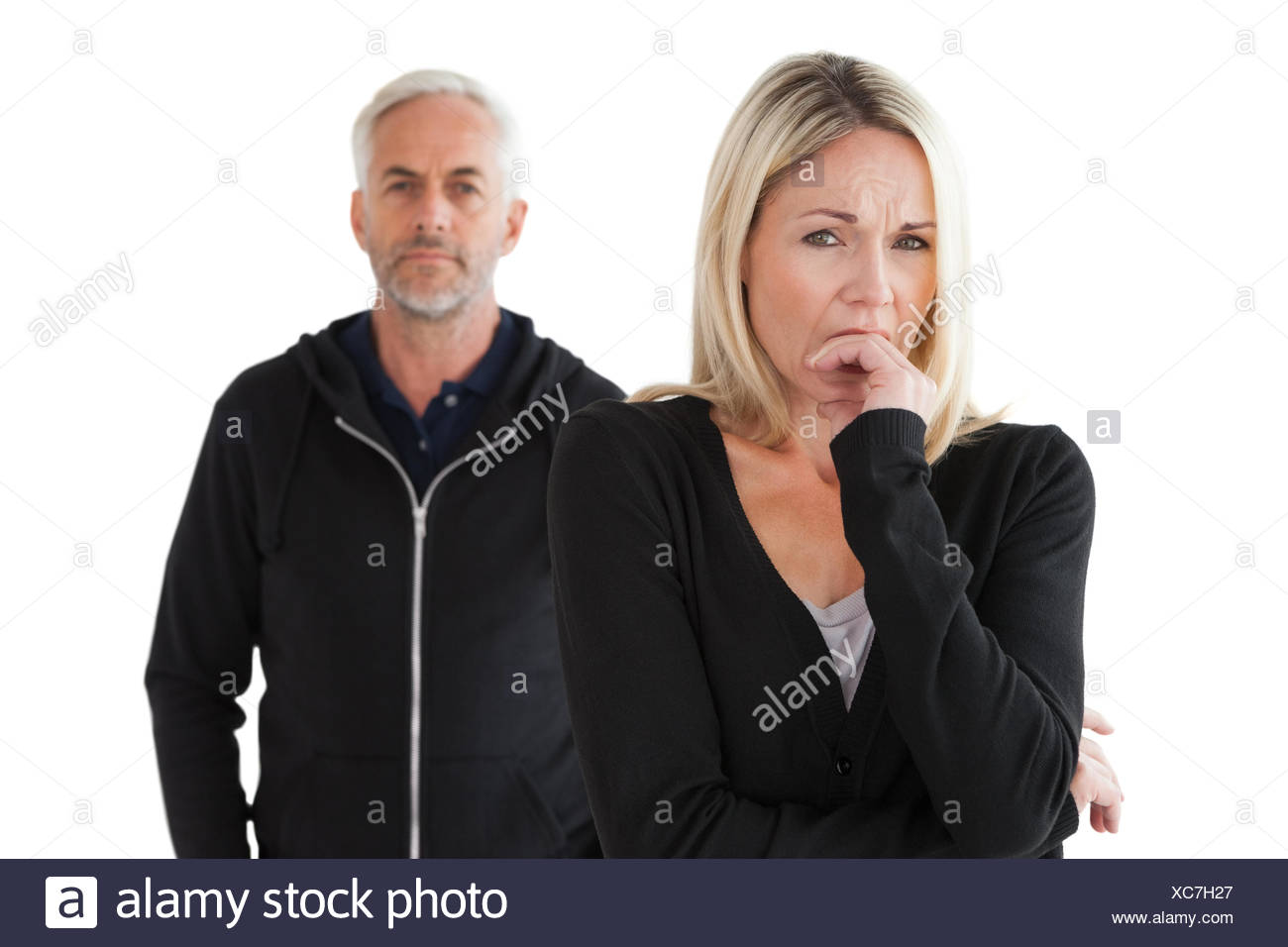 Mature couple having relationship problems - Stock Image