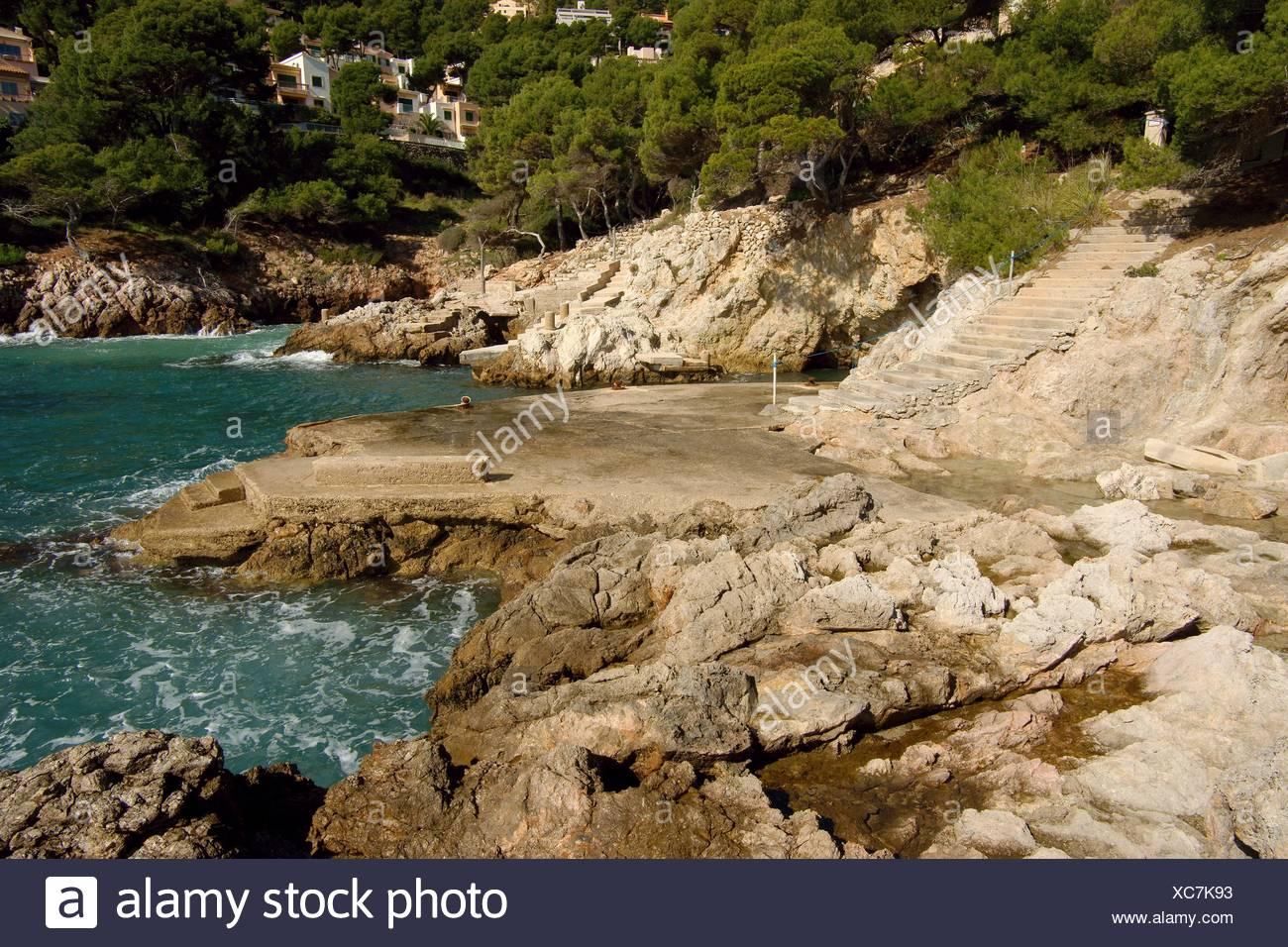 Baixada de Cal Rei Canyamel Mallorca Baleares Spain Llevant - Stock Image