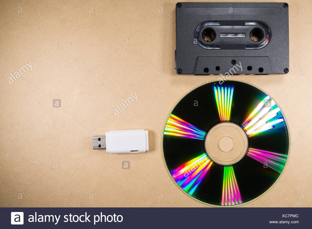 Concept of music evolution - Stock Image