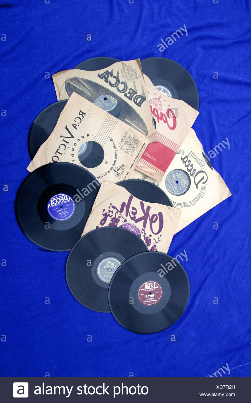 78 RPM record music entertainment old retro - Stock Image