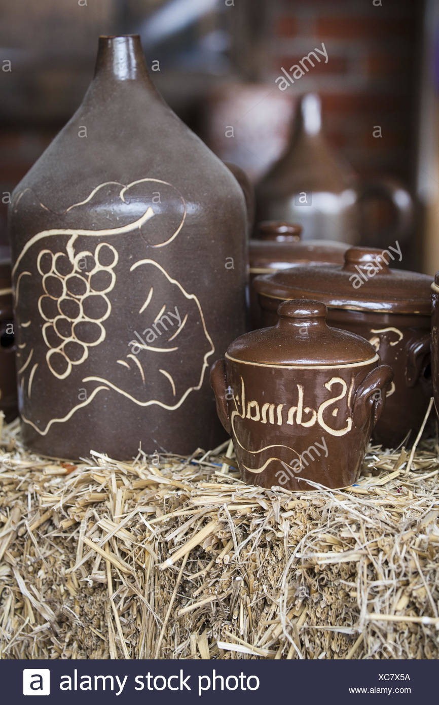 Vessels from stoneware - Stock Image