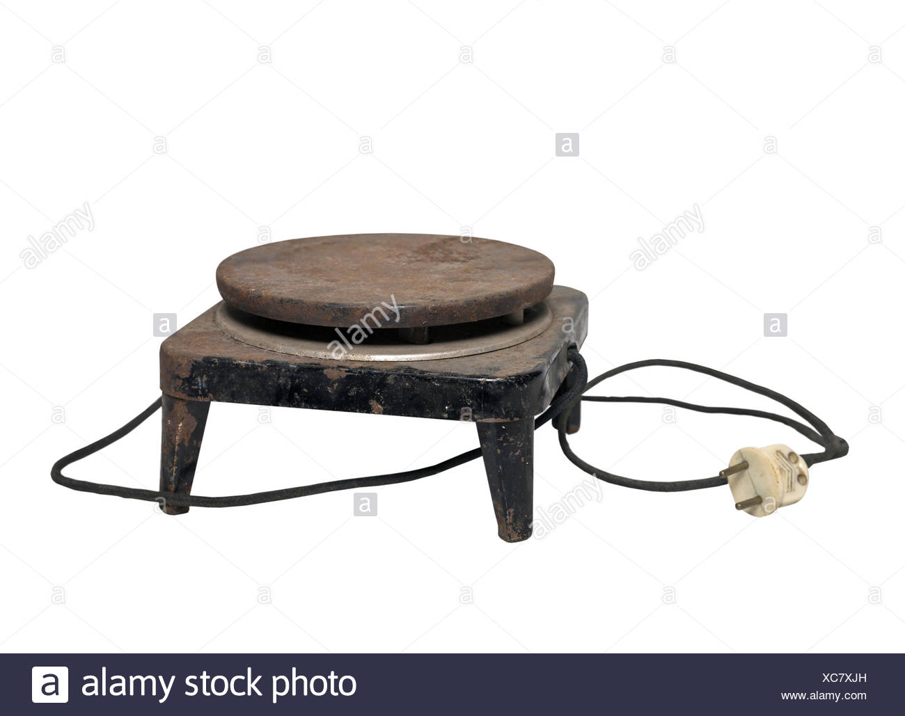 old electric stove - Stock Image