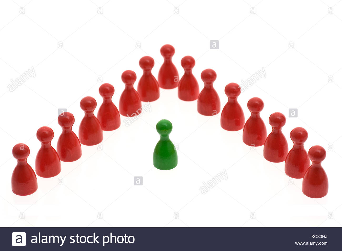 lone wolf new row outsider group apart extra insulated humans human beings - Stock Image