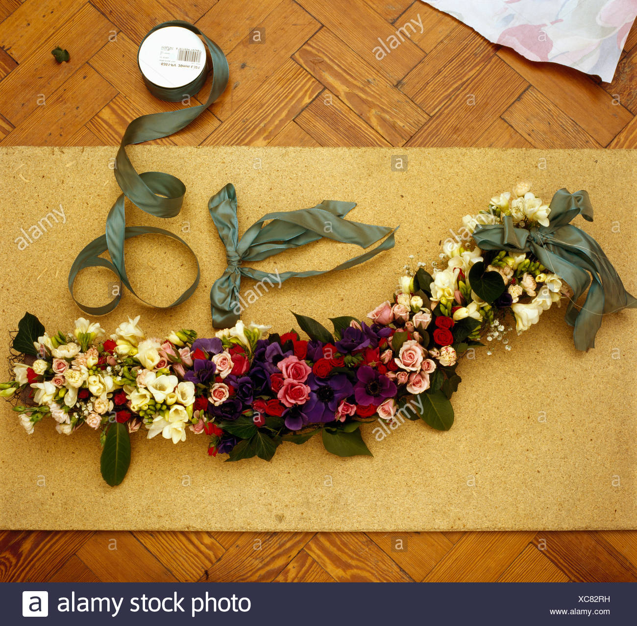 Making A Fresh Flower Garland Stock Photo 282919605 Alamy