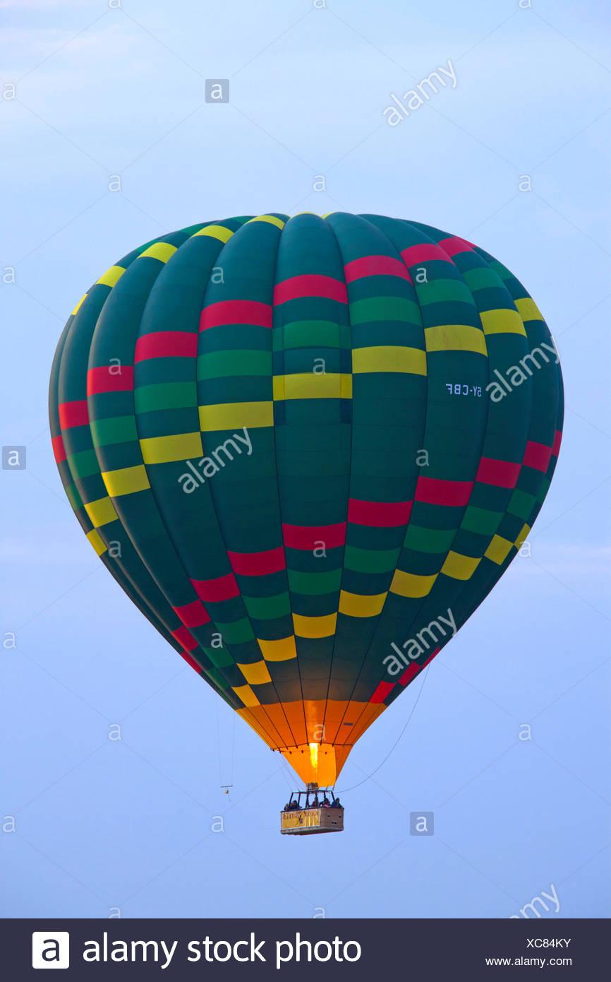 baloon in the sky, Kenya, Masai Mara National Park - Stock Image