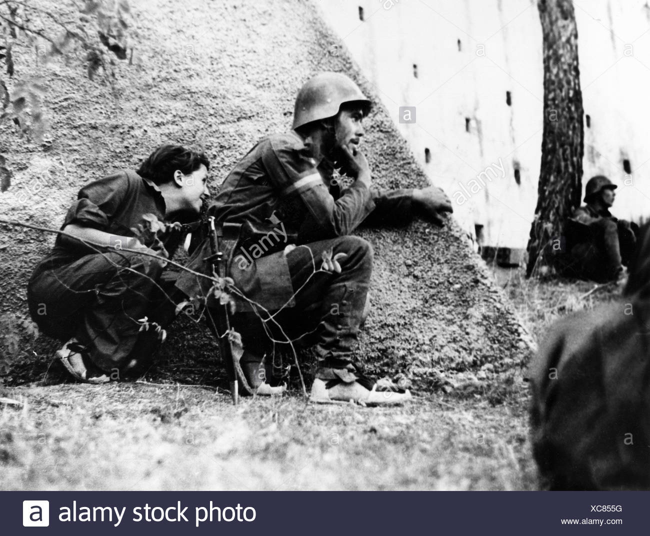 Gerta Taro photographer Spanish Civil War Spain Europe war Robert Capa army military - Stock Image