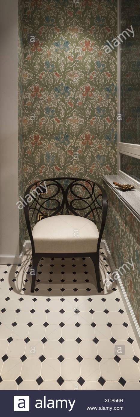 Armchair smoking room - Stock Image