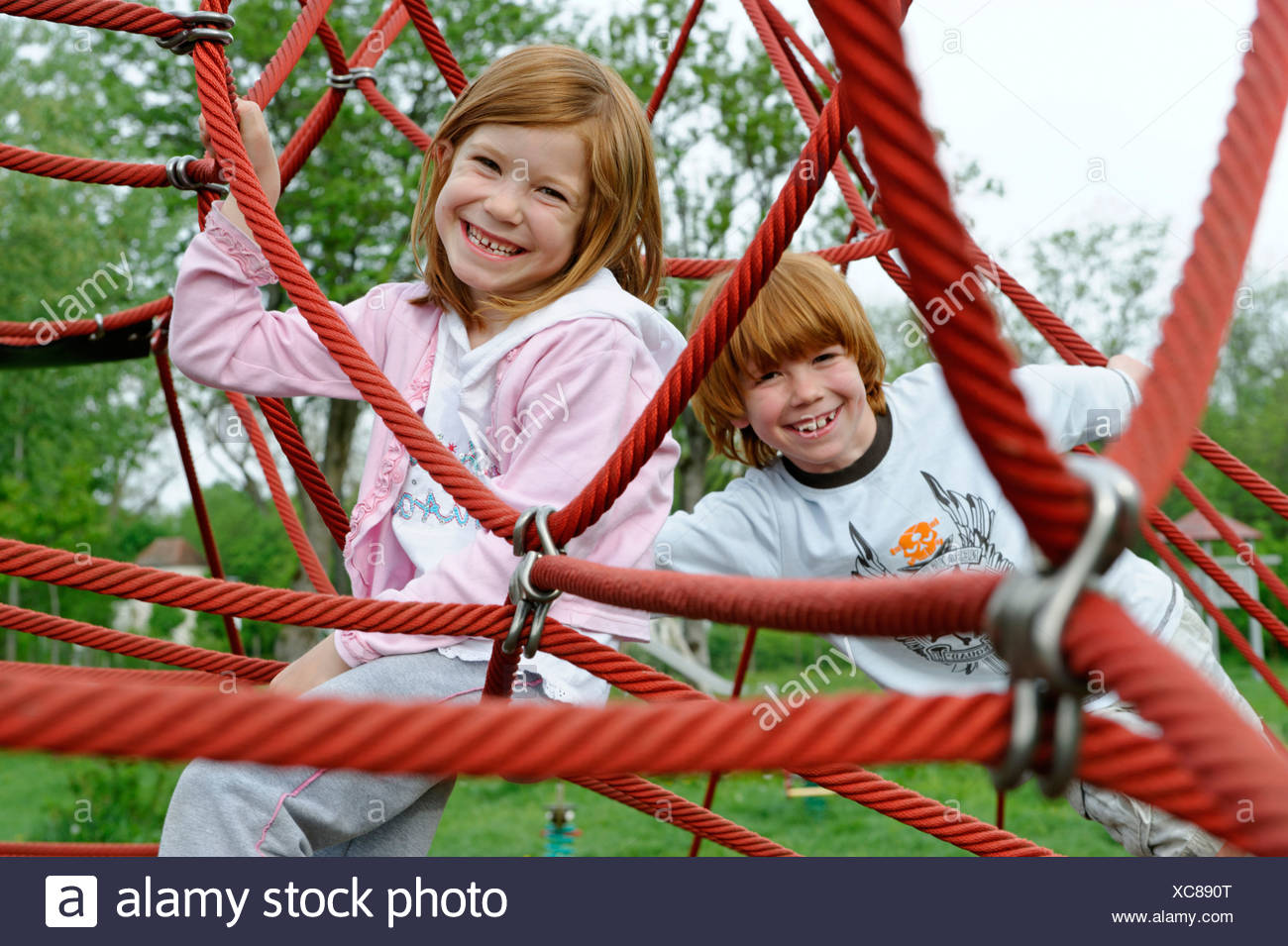 Children at the playground - Stock Image