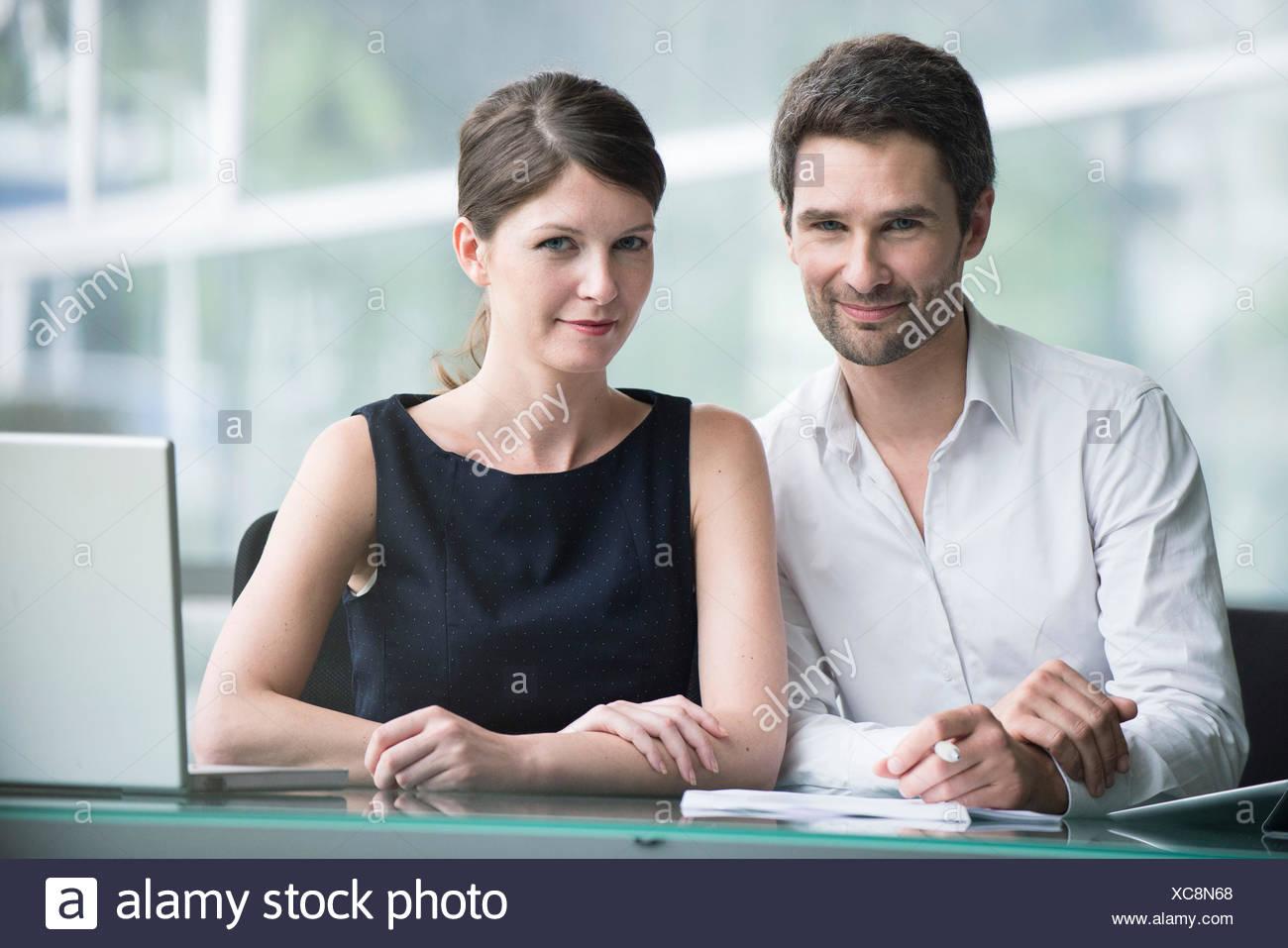 Business partners, portrait - Stock Image