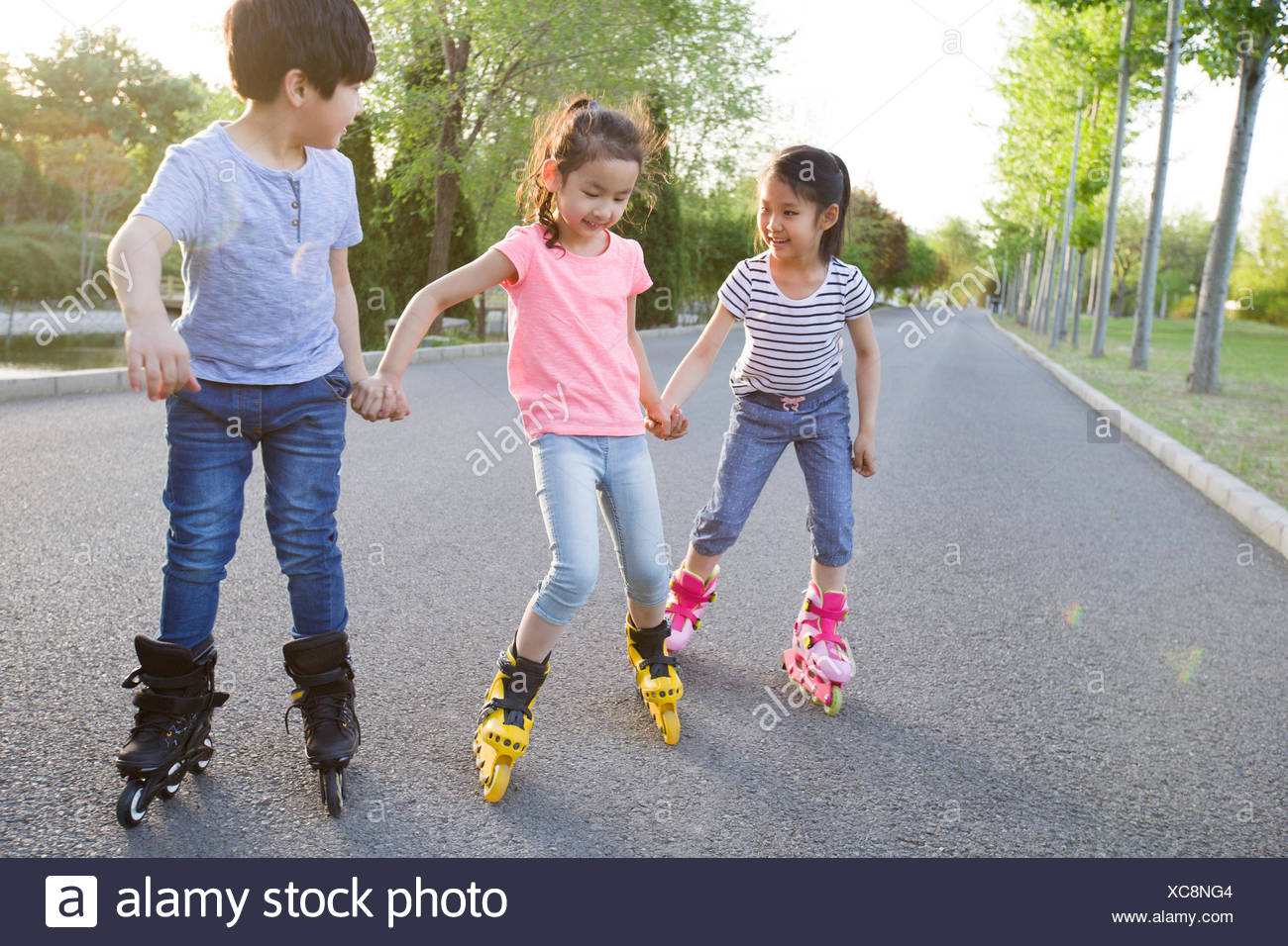 Children Roller Skating High Resolution Stock Photography And Images Alamy
