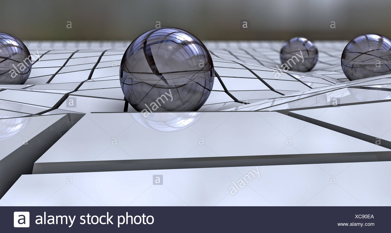 visualization geometry rectangular prism - Stock Image