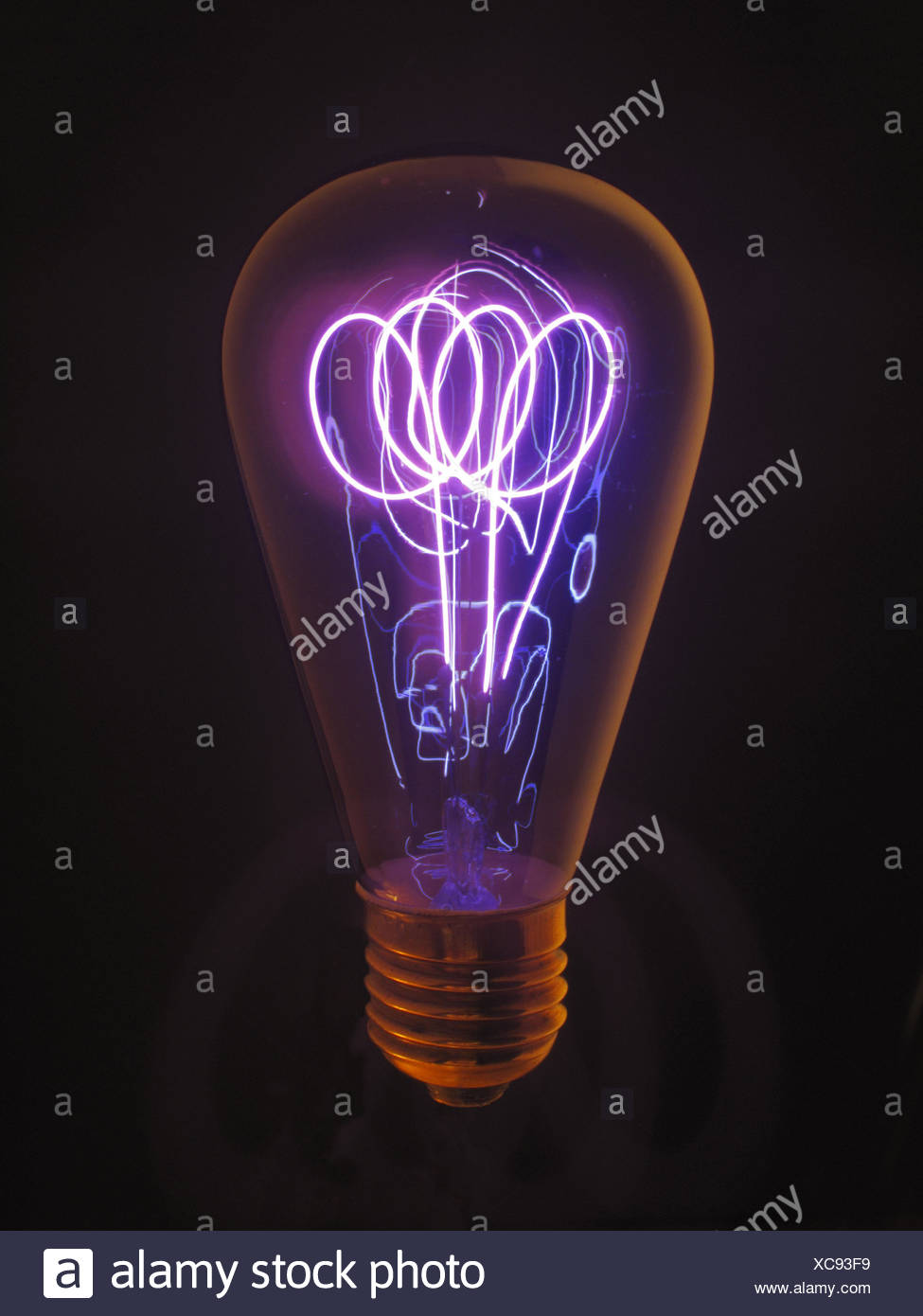 Light bulb, wire, shine, blast energy, electricity, electrically ...