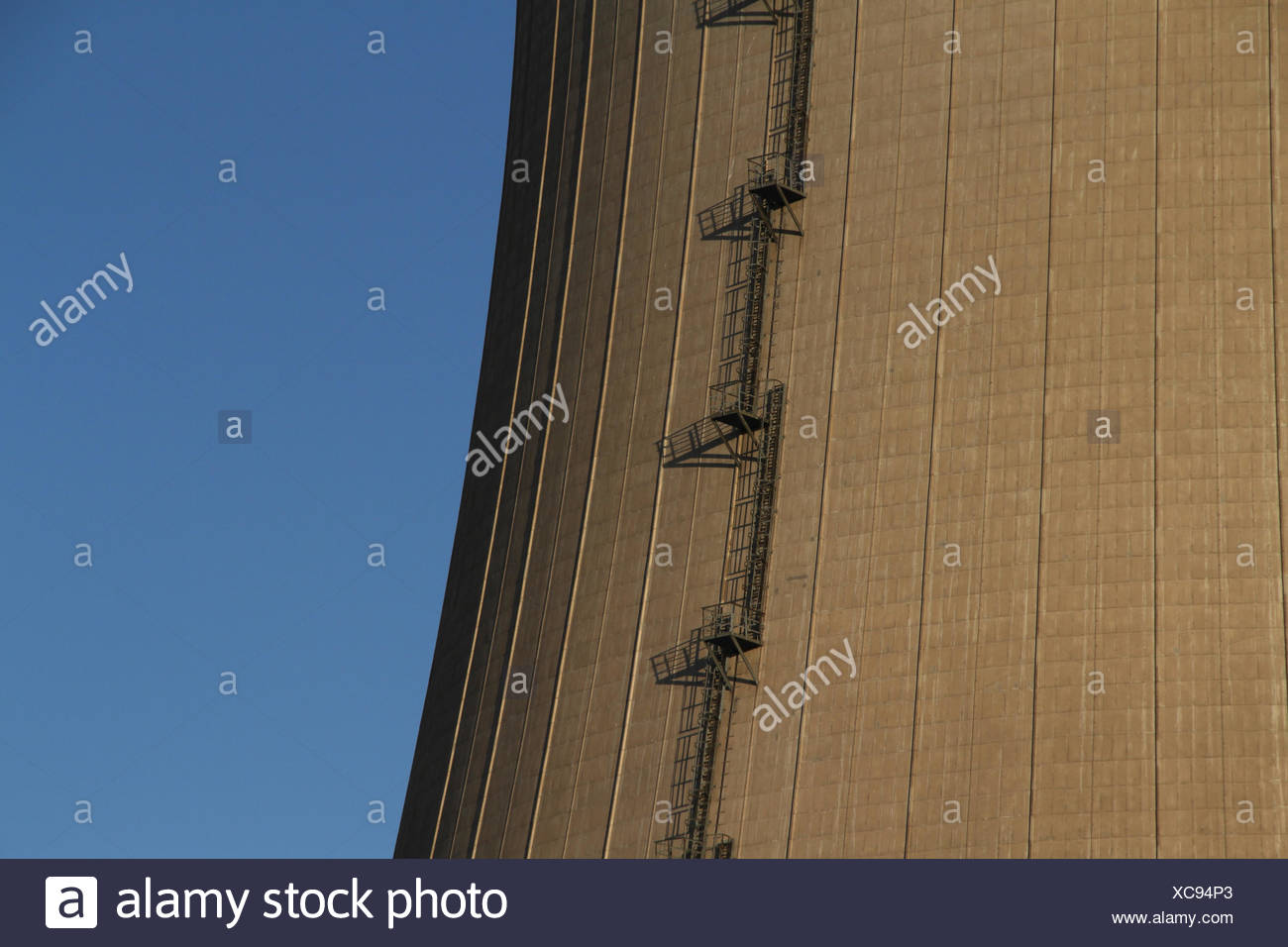 energy power electricity electric power ascent nuclear power station reactor - Stock Image