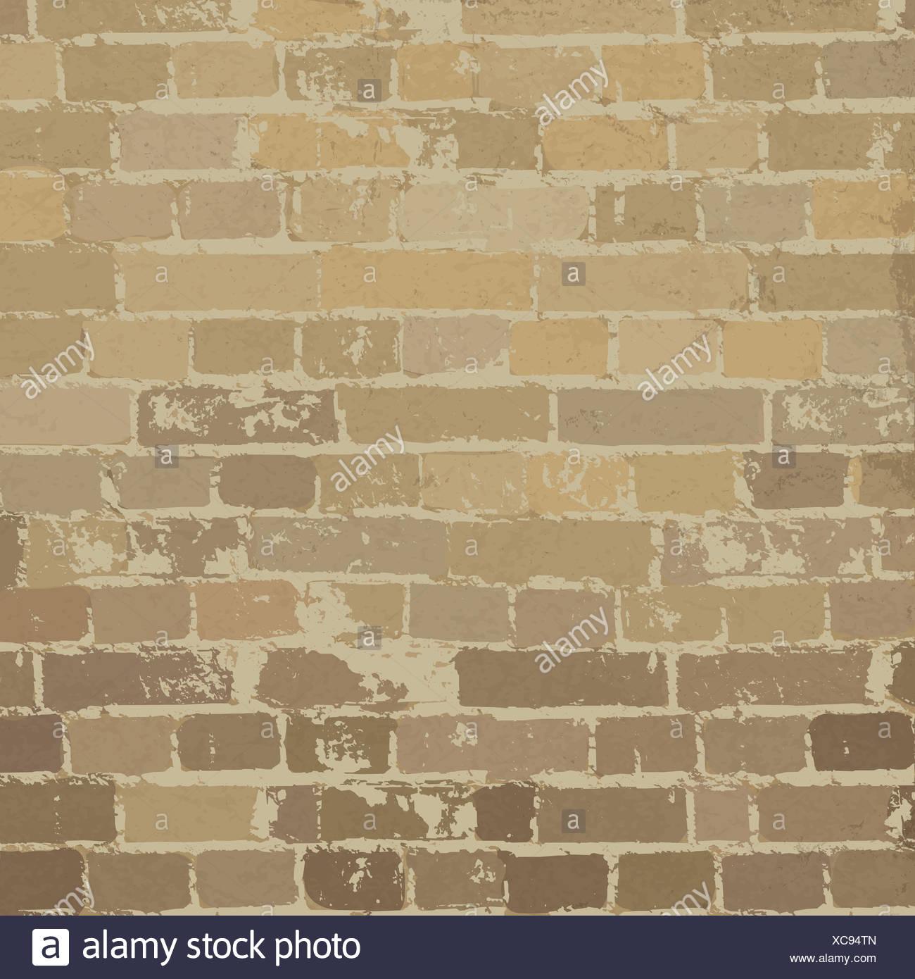 Beige Brick Wall Texture Vector Stock Photos & Beige Brick