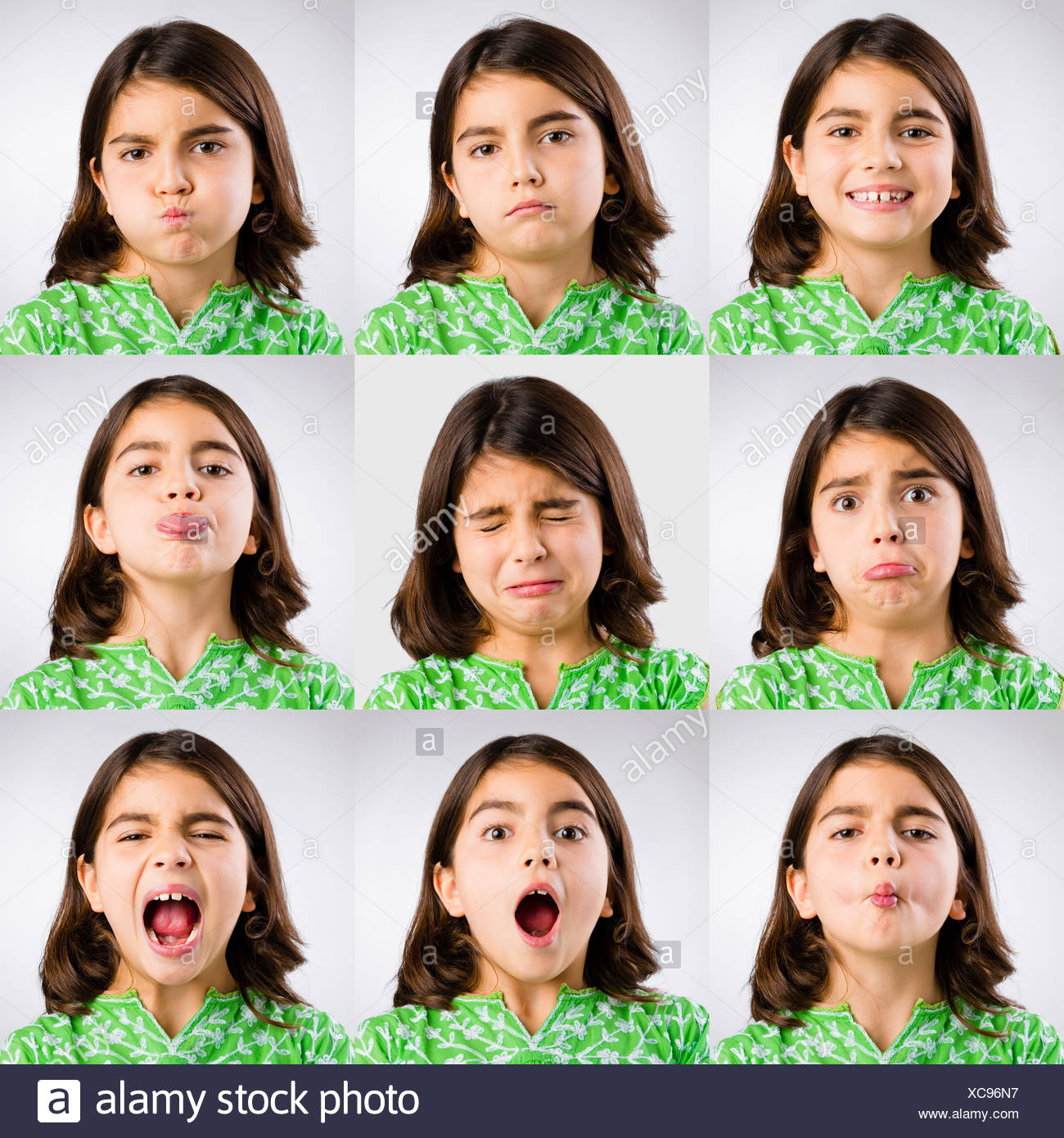 Diferent expressions - Stock Image