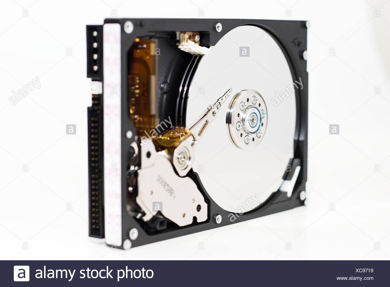 virtual memory memory ram discs magnet rotation diskette rotate magnetic head Stock Photo