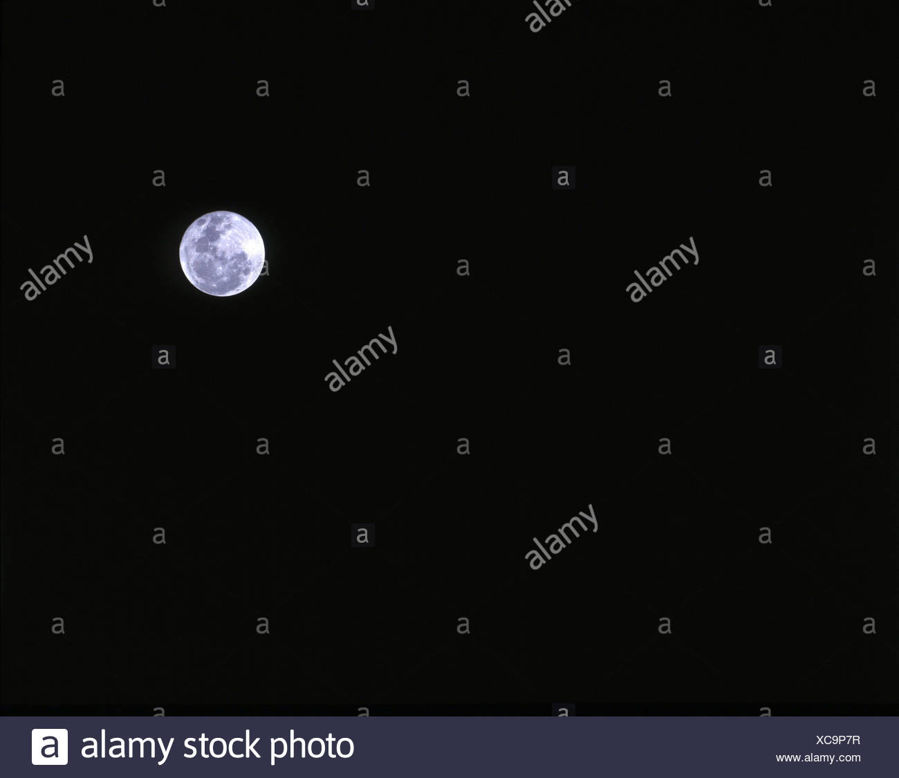 moon full moon darkness at night night night sky sky darkly - Stock Image