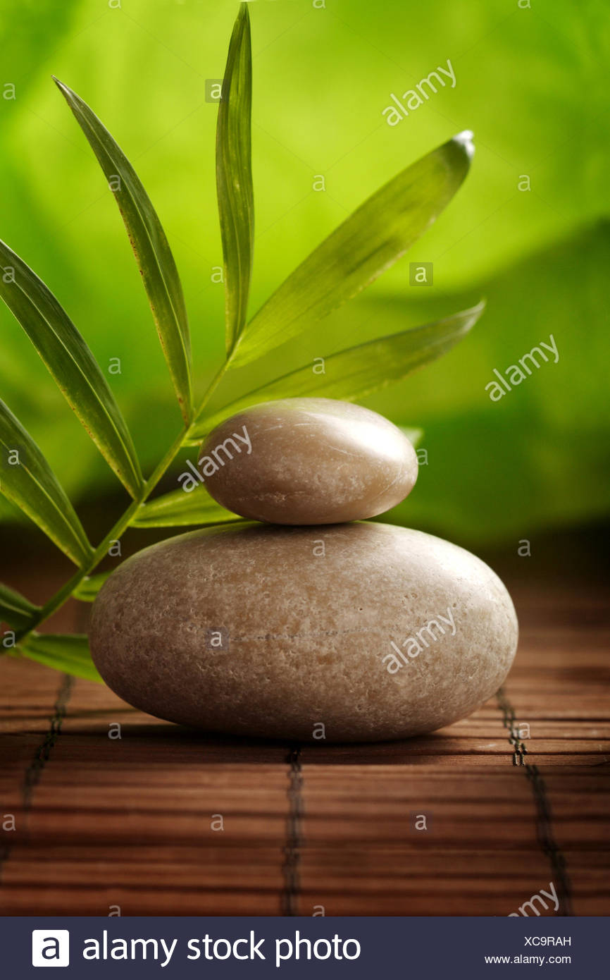 wellness,relax,stone pile - Stock Image