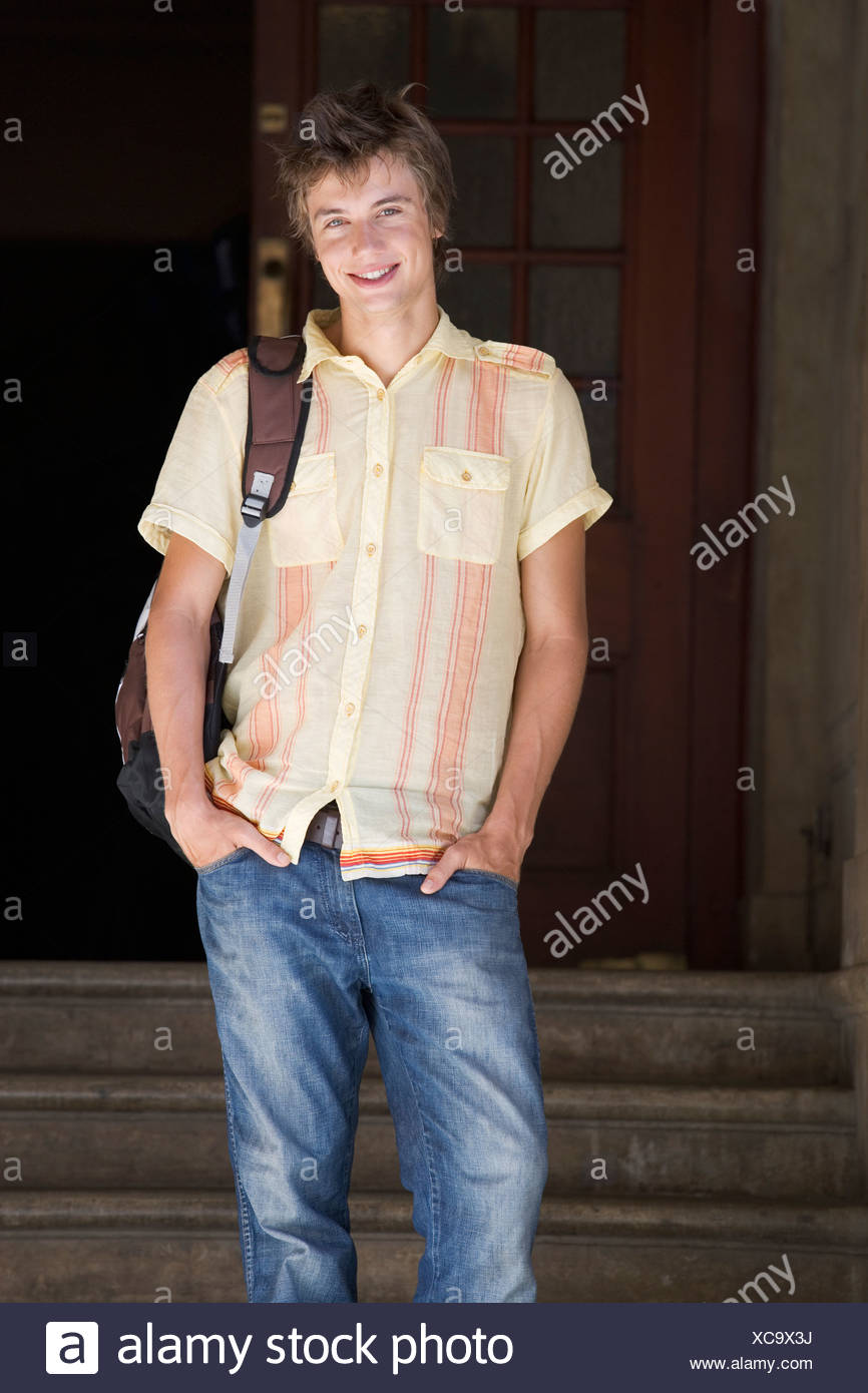 Portrait of a student - Stock Image