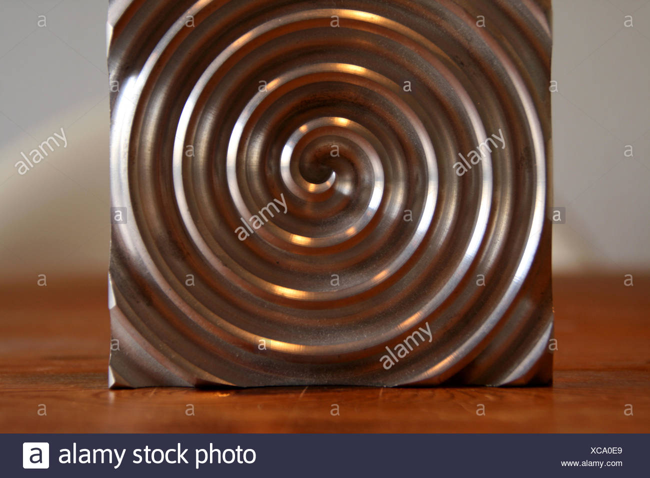 aluminium circle Stock Photo