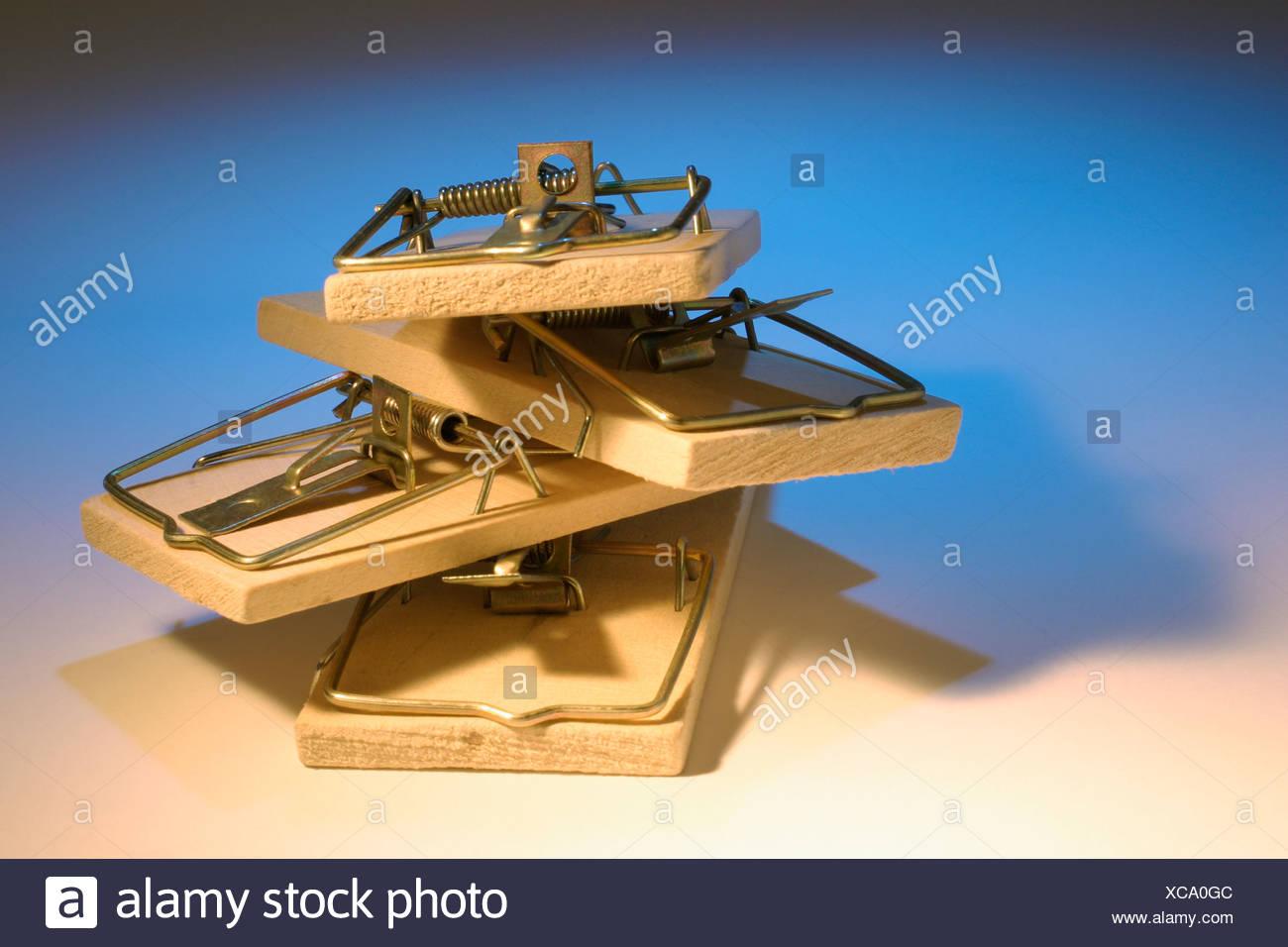 Mousetraps Stock Photo