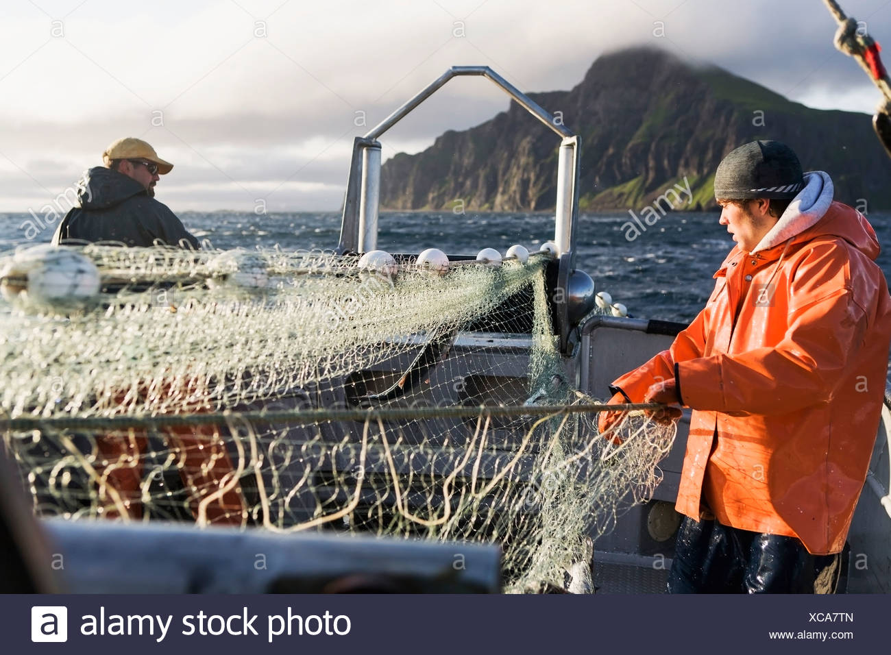 Fisherman boat catch salmon stock photos fisherman boat for Alaska department of fish and game