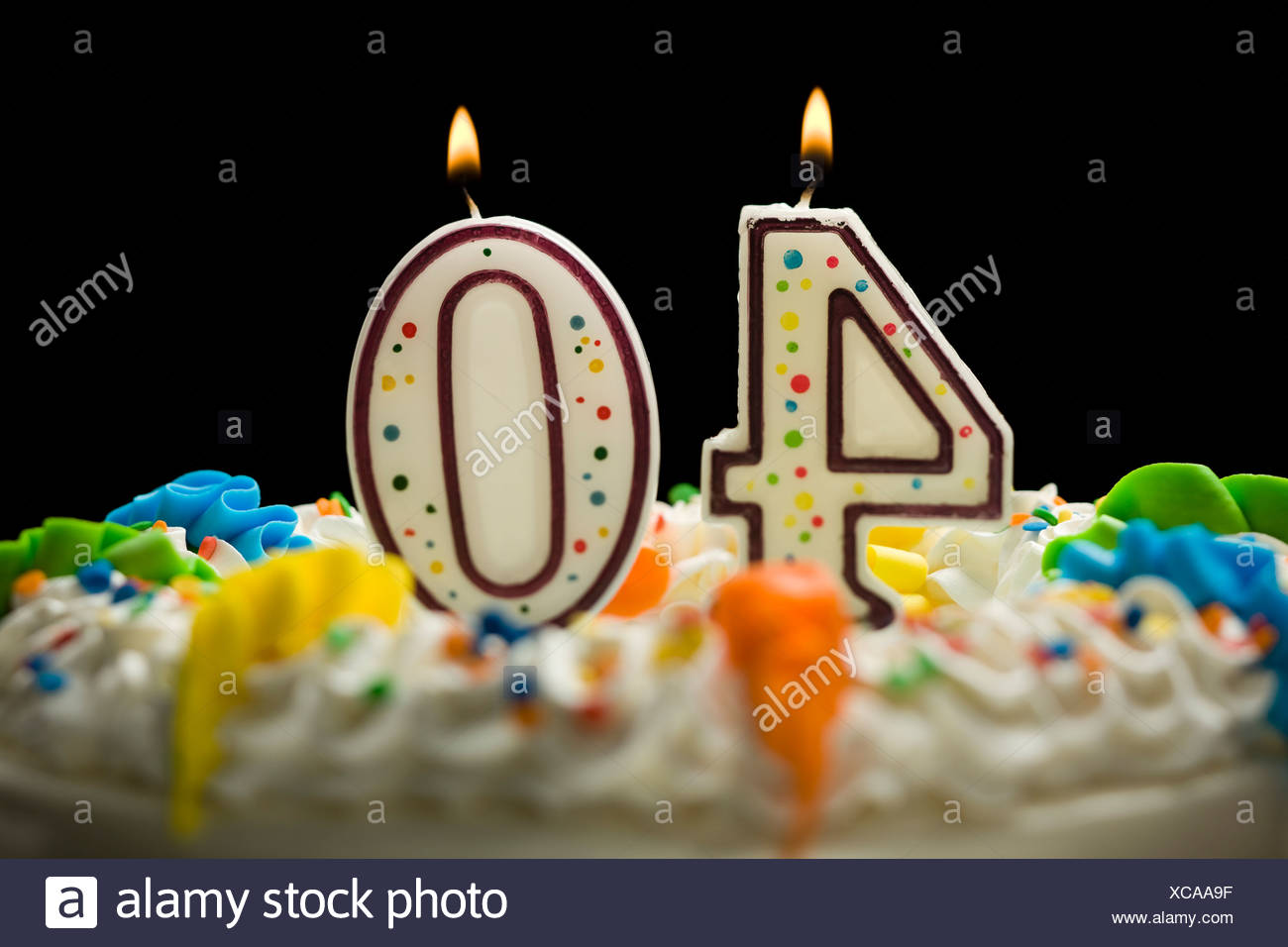 Birthday Cake With Candles That Say 40 Stock Photo 282969387 Alamy