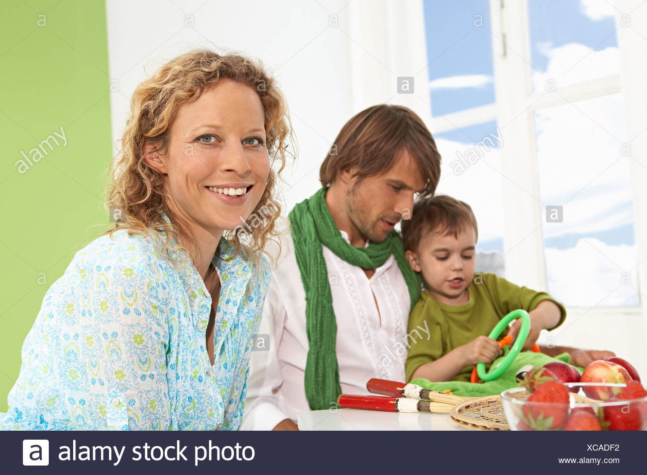 mother with family - Stock Image