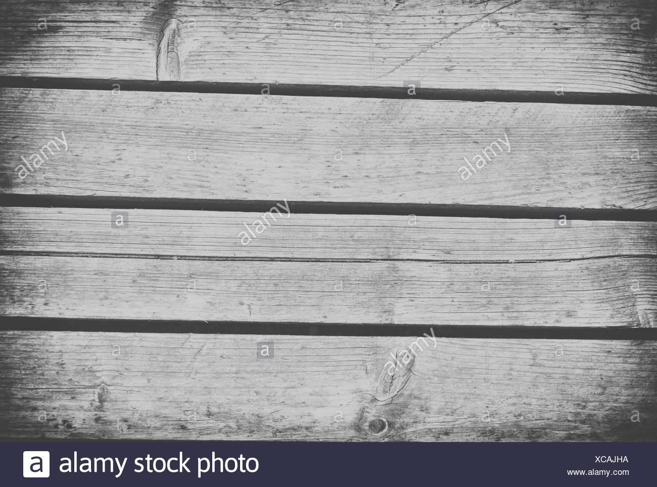 black and white wood texture or bakcground - Stock Image