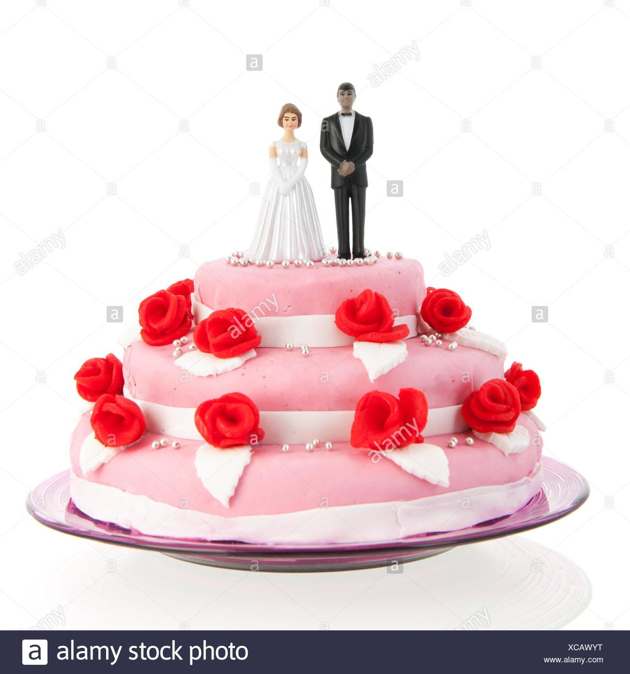 Wedding Cake Marzipan Bride Groom Stock Photos & Wedding Cake ...