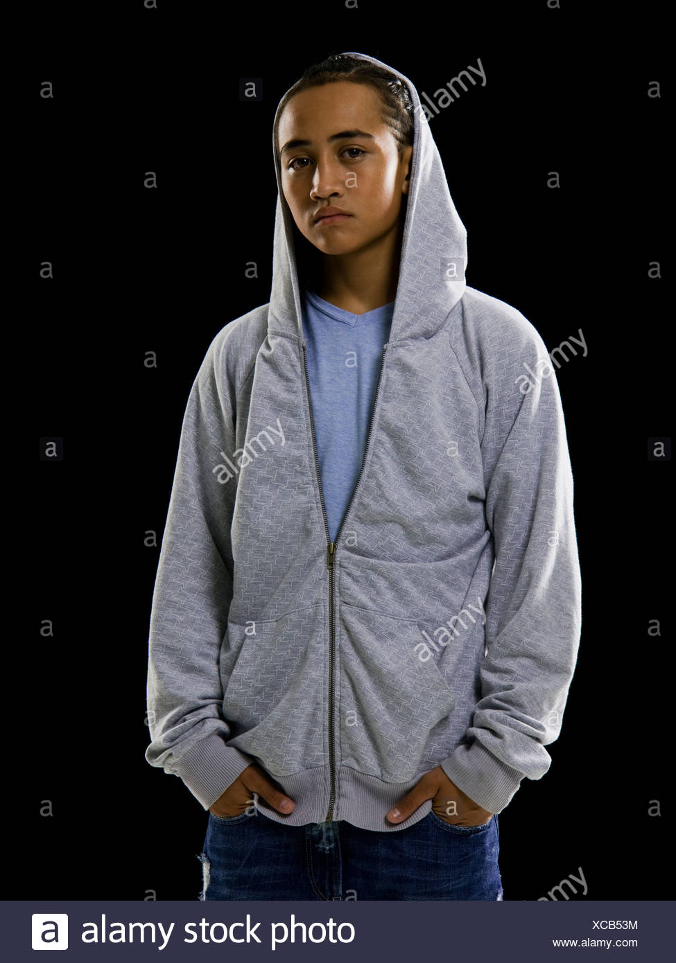 662ec139 Young man in a hoodie Stock Photo: 282987256 - Alamy