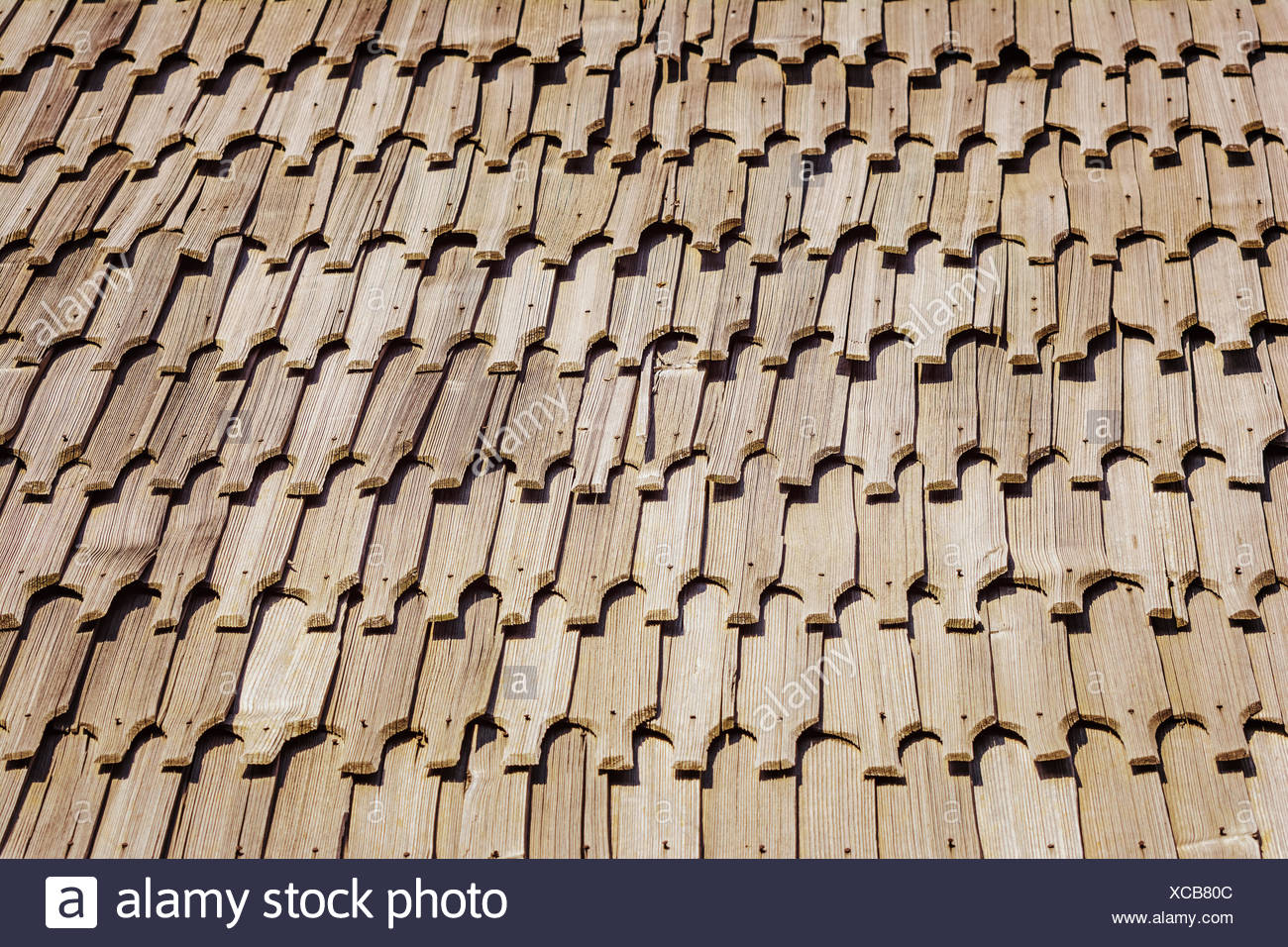 Wooden Roof Background - Stock Image