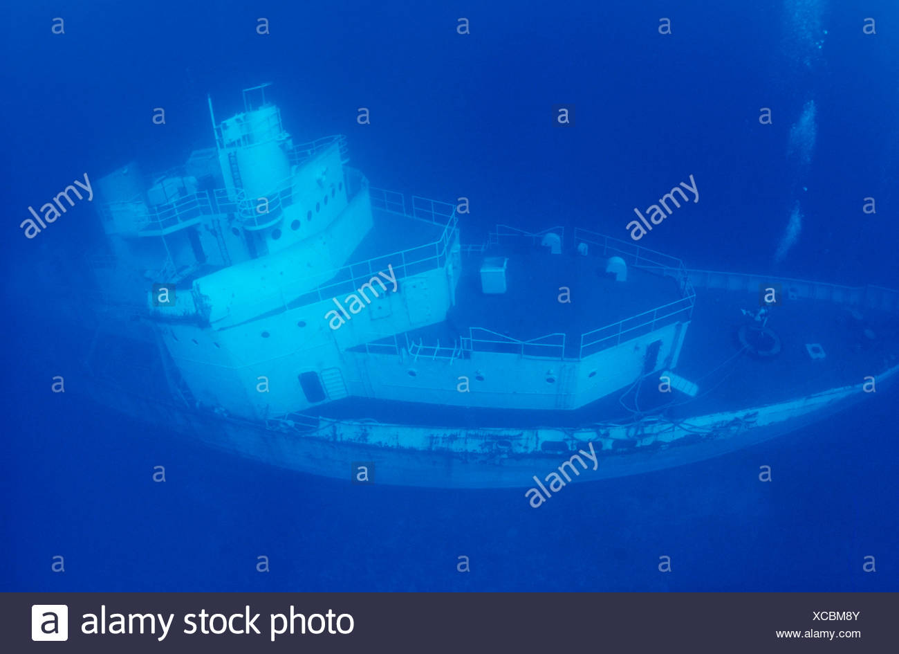 THE DAY THE USCG CUTTER DUANE WAS SUNK AS AN ARTIFICIAL REEF KEY LARGO FLORIDA - Stock Image