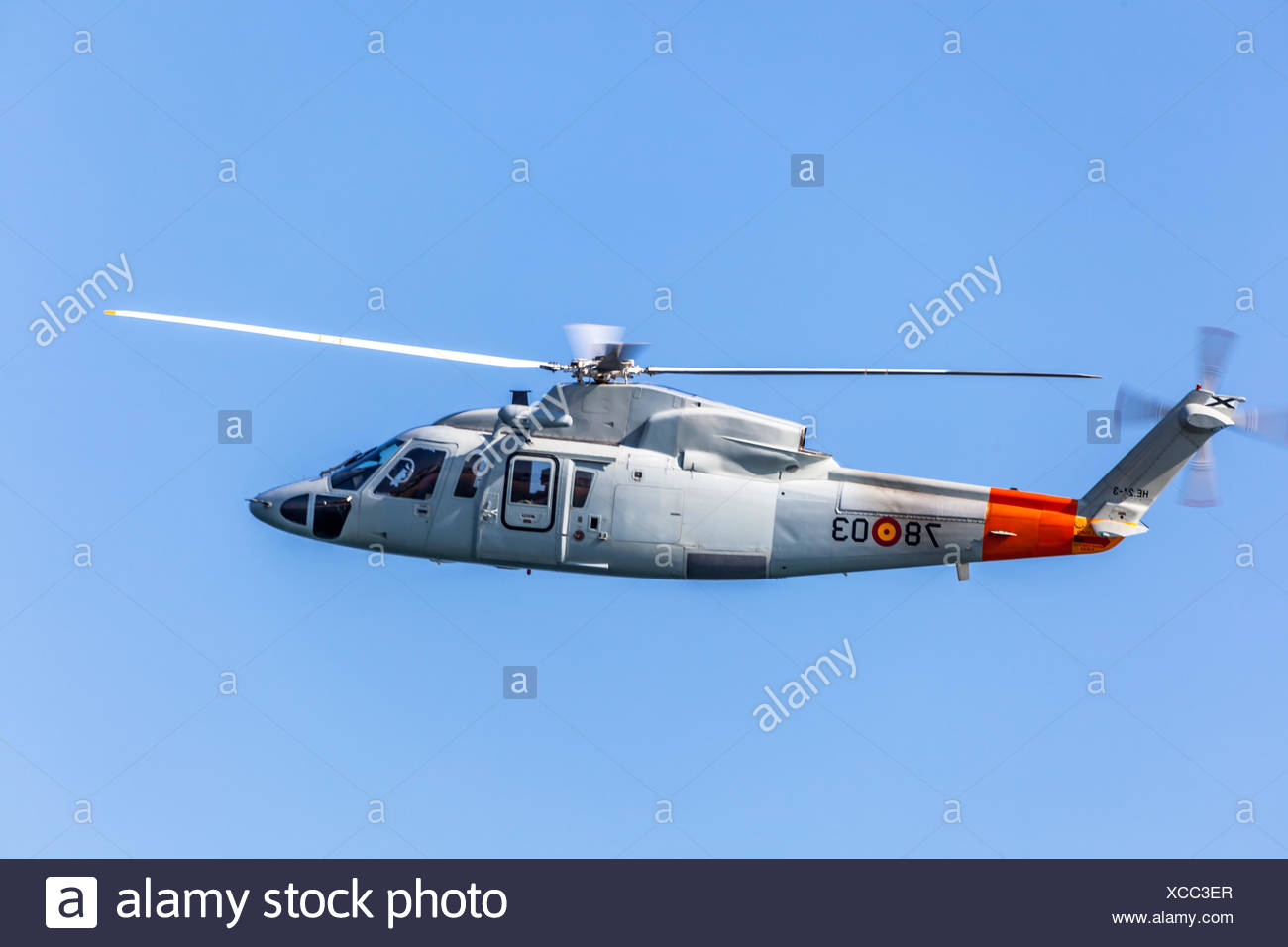 Helicopter Sikorsky S-76C Stock Photo