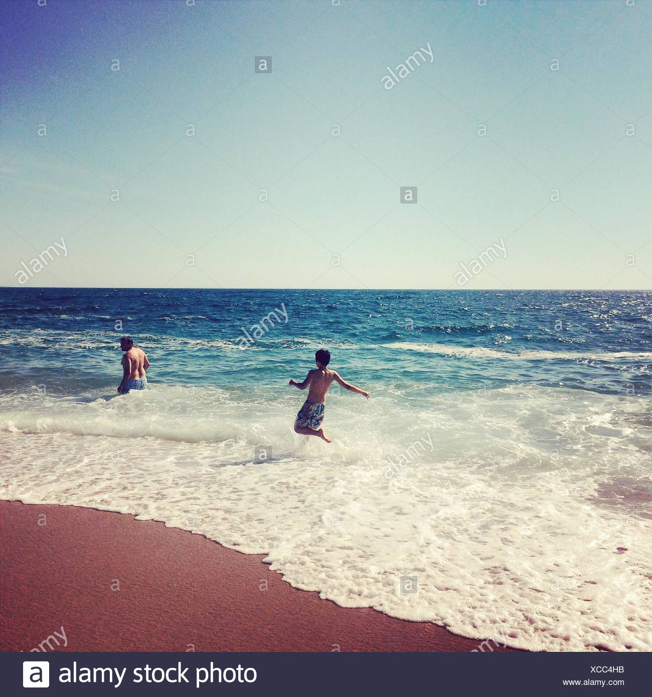 People In Sea - Stock Image