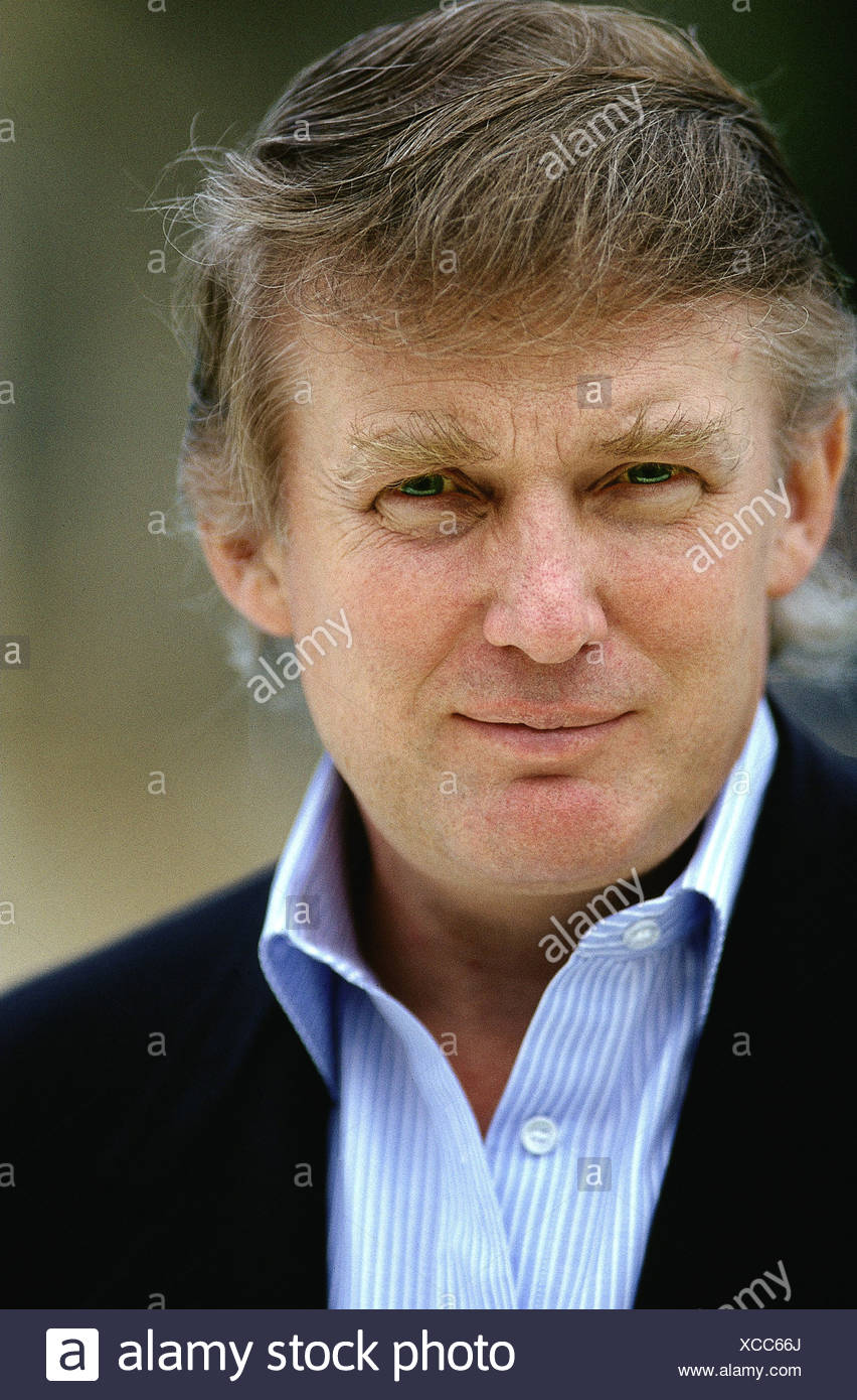 Trump, Donald, * 14.6.1946, US business magnate, portrait, Palm Beach, 1992, Additional-Rights-Clearances-NA - Stock Image