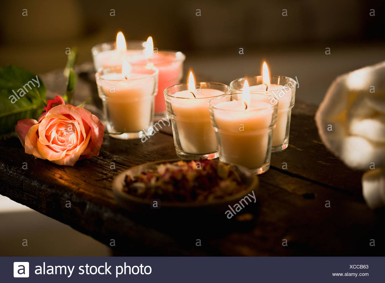Candles and flowers stock photos candles and flowers stock images candles and flowers stock image izmirmasajfo