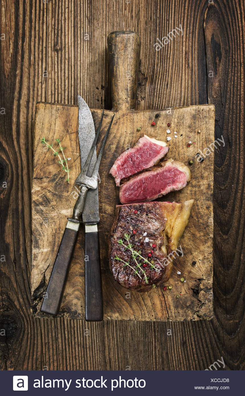 steak on the cutting board Stock Photo