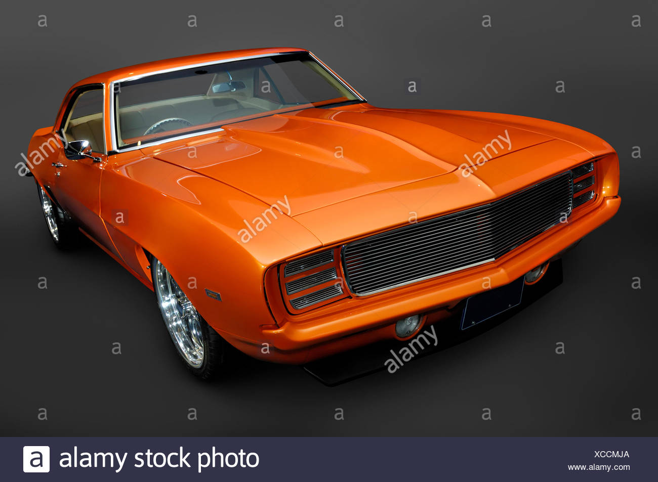 Camaro Stock Photos Images Alamy 1968 Chevrolet Ss Rs Orange 1969 Classic Vintage Muscle Car Image