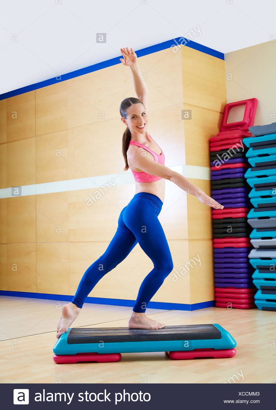 Step Workout: Aerobic Step Stock Photos & Aerobic Step Stock Images