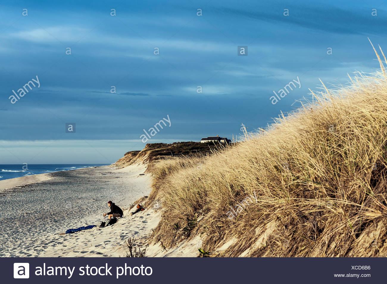 Sunrise solitude, Wellfleet, Cape Cod, Massachusetts, USA - Stock Image
