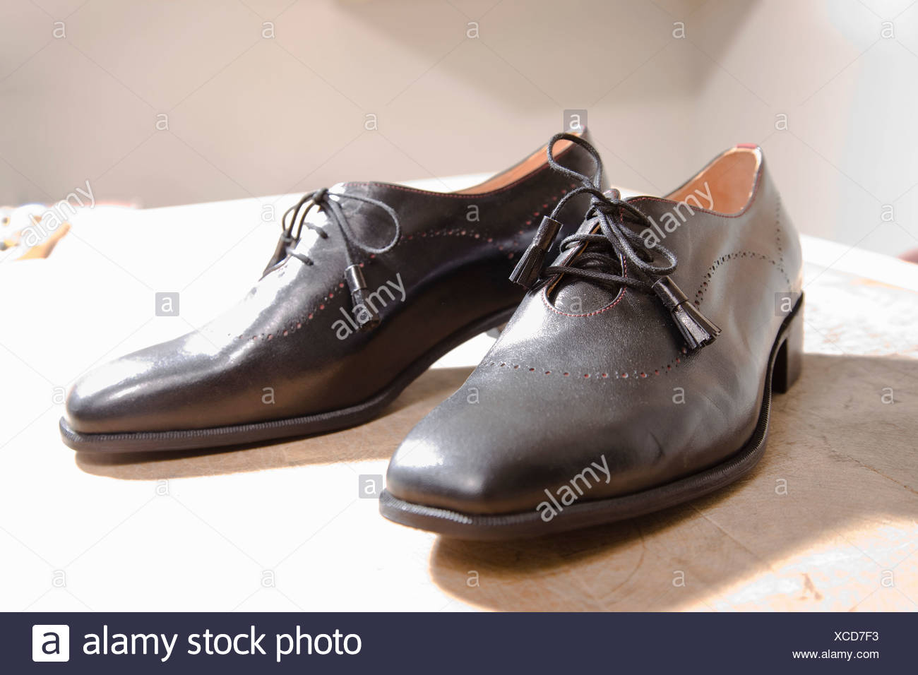 The result of works effort on shoes - Stock Image