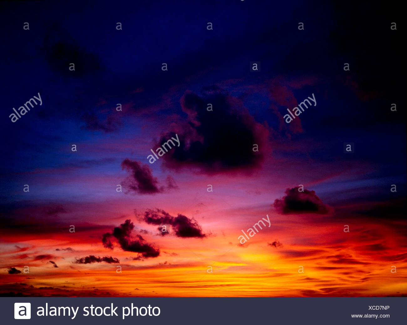 SUNSET SKY,KUTA BEACH,BALI,INDONESIA - Stock Image