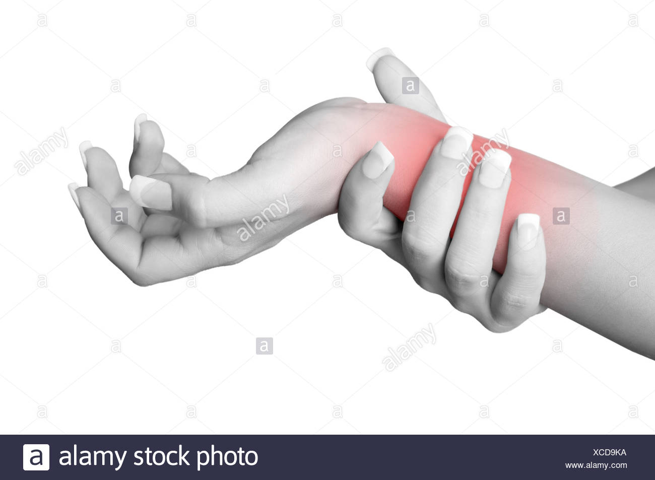 Wrist Pain - Stock Image