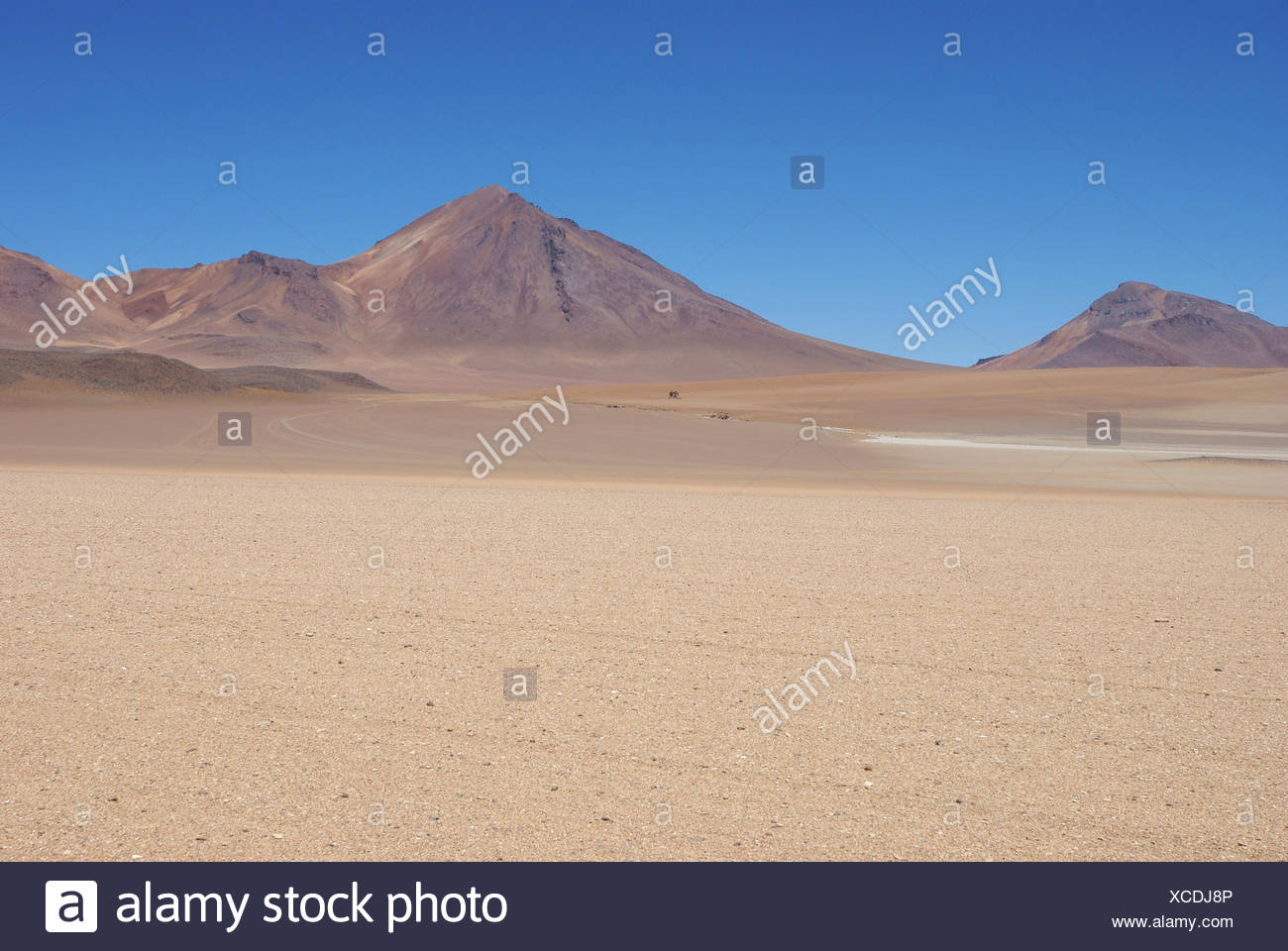 Desert of Of there, Reserves national of Andean fauna Eduardo Abaroa, Desert of Lipez, Department of Potosi, Sud Lipez Province, La Paz, Bolívia - Stock Image