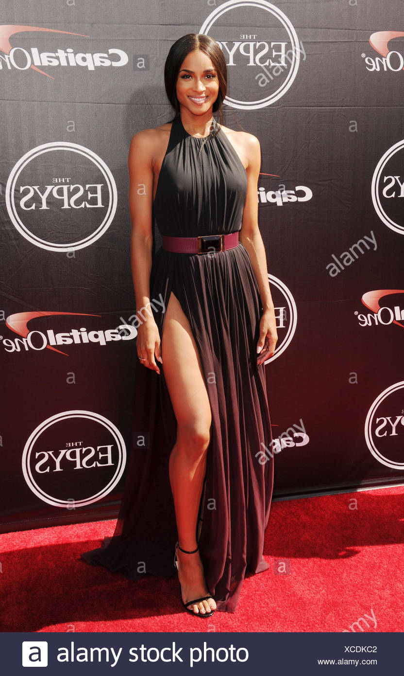 Singer Ciara arrives at the The 2015 ESPYS at Microsoft Theater on July 15, 2015 in Los Angeles, California., Additional-Rights-Clearances-NA - Stock Image
