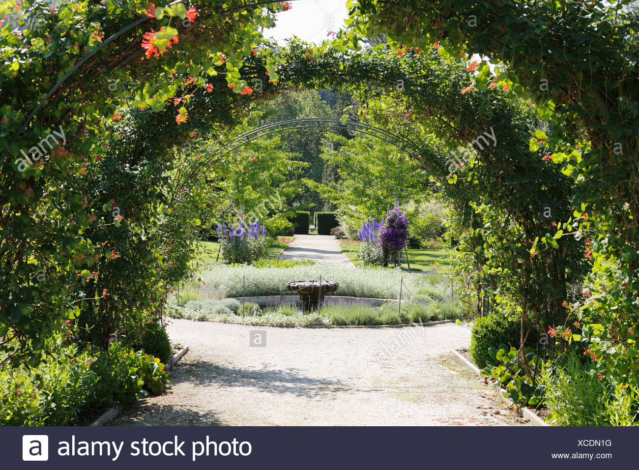 Planetary Garden, Schloss Eggenberg Castle, Graz, Styria, Austria, Europe - Stock Image