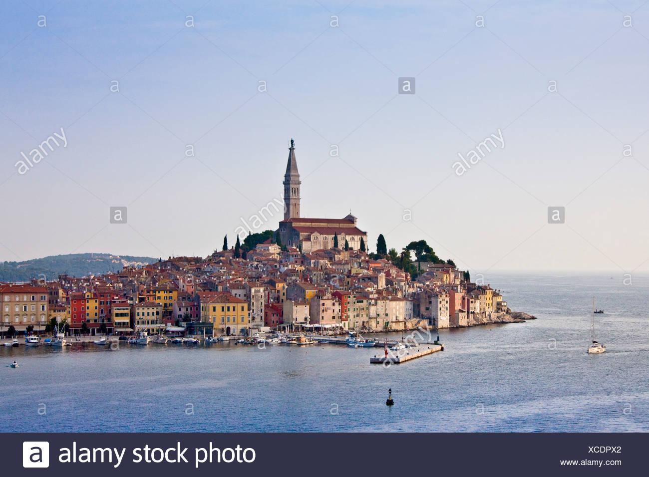 Croatia, Europe, Istria, Adriatic, sea, peninsula, houses, homes, Rovinj, - Stock Image