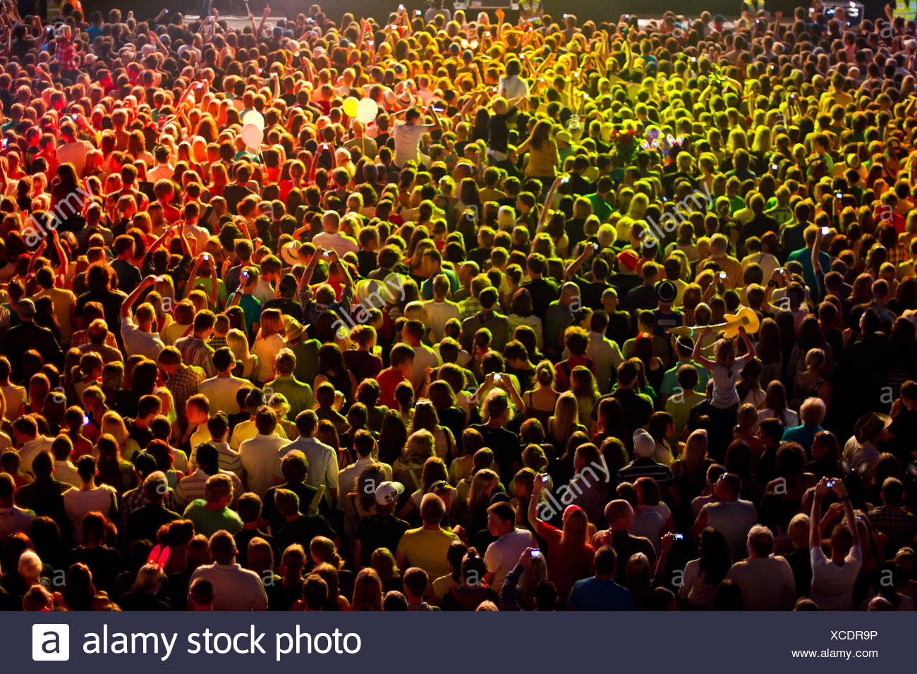 event,concert,audience,music festival - Stock Image
