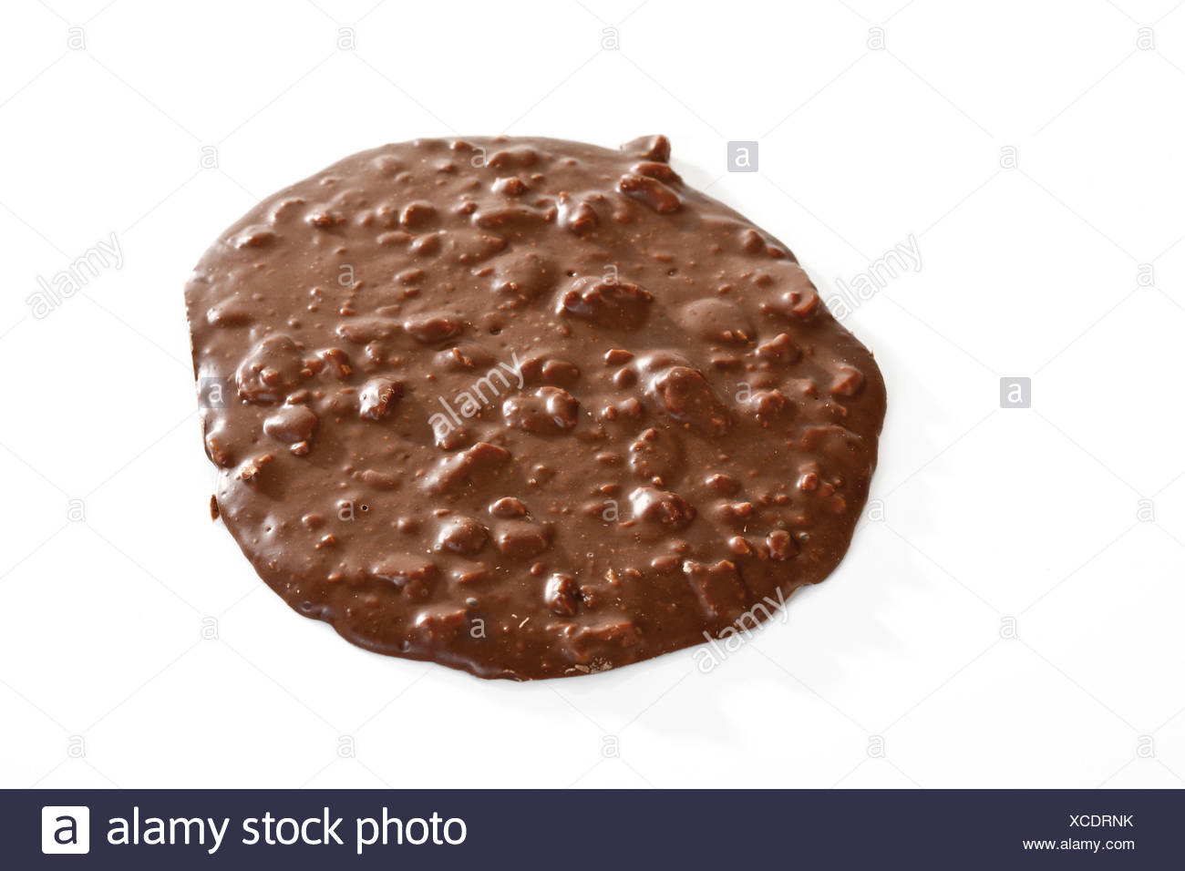 Chocolate Florentine Cookie - Stock Image